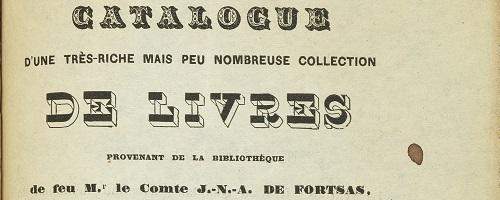 Page de titre du catalogue Fortsas