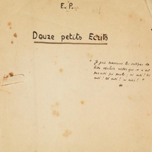 Page de titre du manuscrit