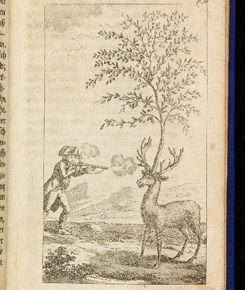 L'aventure du cerf au cerisier dans l'édition de 1786