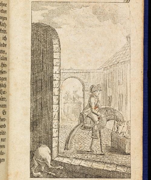 L'épisode du demi-cheval dans l'édition de 1786